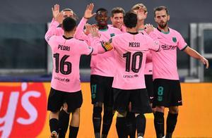 欧冠2-0!巴萨羞辱尤文后登顶,梅西独造2球+又刷爆历史神迹