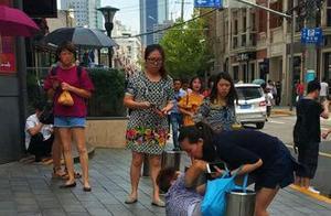 上海好心人|老人中暑倒地 众多路人相助