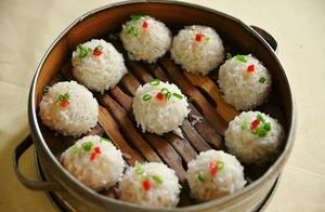 珍珠肉丸子,不煎不炸,清香细嫩、鲜香可口,超好吃!