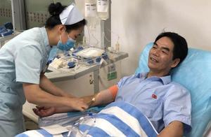 赞!最后一次献血庆60岁生日 绍兴男子20年献血12万毫升
