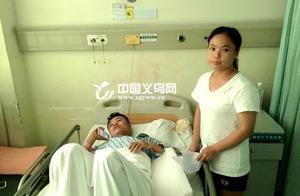 6岁男孩被卡在车下 义乌一男子救人受伤不言悔