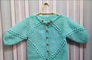 毛衣编织技巧,不用从领口与下摆钩编,方法简单易懂