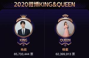 微博之夜投票结果出炉,肖战杨紫再次当选KING和QUEEN