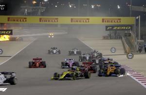 惊魂一幕!F1事故起大火,赛车解体车手躲过一劫,工作人员哭了