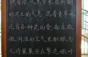 """师范大学生秀粉笔字,个个风神潇洒,堪比""""印刷体"""",让老师羡慕"""
