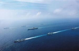 辽宁舰首次与055合体,日媒高度评价:护航力量更胜美航母一筹