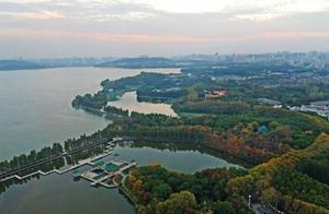 城表情 枫叶渐红、银杏变黄、乌桕叶子色彩斑斓,东湖进入调色盘模式