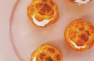 新鲜出炉的泡芙,酥脆的外壳加上香甜的奶油,没有人不喜欢