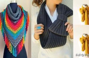 冬季这么少得了围巾呢?多款钩针编织的女生围巾,喜欢的可仿