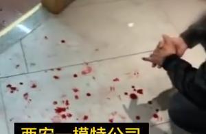 道理何在?陕西一女孩称家属遭模特公司群殴,现场:关门往死里打