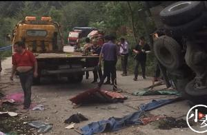 河南商城县货车侧翻致8死11伤,目击者:当时大家是在帮拾大蒜,并非哄抢