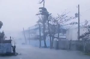 超级台风天鹅清晨登陆菲律宾!灾难性狂风横扫 百万人仓皇逃
