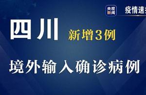 四川9日新增3例境外输入确诊病例