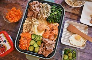 想吃韩式拌饭不用买,教你懒人做法,有菜有饭有肉,全家人吃不够
