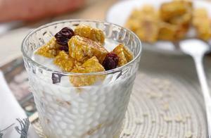 红薯花样吃法,不蒸不煮,加把燕麦做甜点,低脂营养,好吃又健康