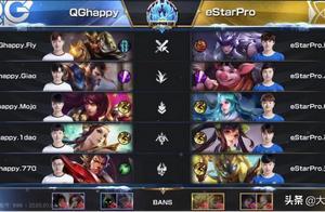 王者荣耀冬冠杯:总决赛QGhappy 4:3 eStarPro,拿下冬冠杯冠军