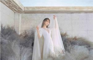 杨紫拍婚纱大片优雅端庄却被嘲拍成了廉价影楼风,网友可怜摄影师
