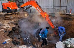 快讯!郑州医学院附近热力爆管,1路人坠入身亡,整个西区和部分南区停暖