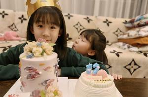 陆毅晒照为大女儿庆生,12岁贝儿颜值颇高,模样越来越像妈妈
