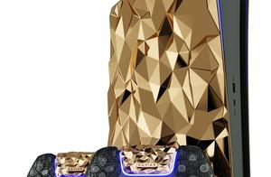 18K纯金打造的定制版PS5亮相,重量达40斤