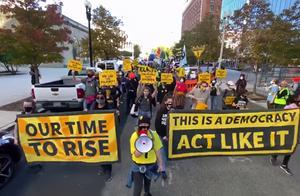 """美国民间组织超500场集会,支持继续计票""""保护选举结果"""""""