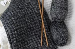 十字花样情侣冬季围巾,附编织教程