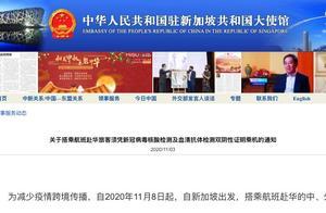中国驻新加坡大使馆:乘机赴华携带双阴性证明