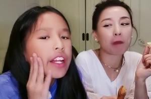 张庭10岁女儿回应长相争议,称不靠脸吃饭,网友:丑还不让人说