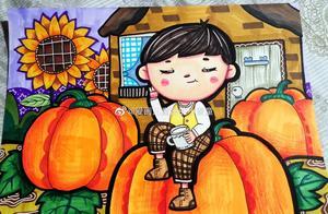 万圣节创意画精选,你们要的南瓜、鬼屋、女巫收藏起来给孩子画