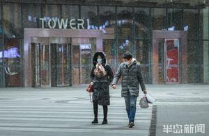 青岛市区下雪啦