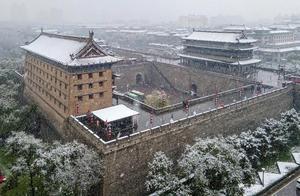 多图预警   西安城墙最新雪景来袭!美爆了!