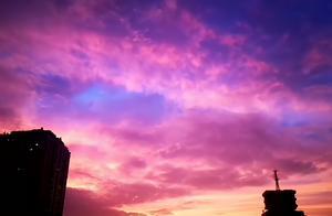 「图集」霜降傍晚的羊城大片!你被这瑰丽的色彩迷住了吗?