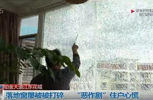高层住户落地窗疑似被钢珠枪击碎,住户:太恐怖了,打到人怎么办