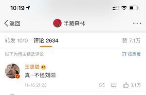 王思聪微博评论半藏森林上热搜