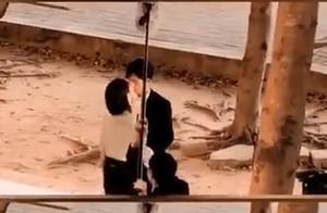 杨紫井柏然吻戏路透曝光!女方主动献吻,两人抱在一起亲到忘我