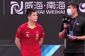 国乒世界第1冲3连冠,4比0赢球淡定总结,决战马龙有自己看法