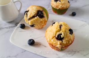 这款爆浆蓝莓玛芬蛋糕,烘焙新手也能玩转,出炉就吃了3个