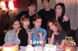 吴千语获阿Sa关智斌等好友连番庆生 生日蛋糕也收了十几个