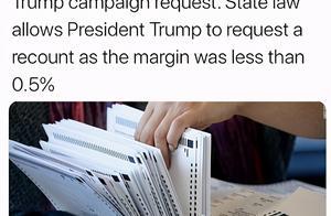 特朗普团队要求佐治亚州再次重新计票,包括核对签名