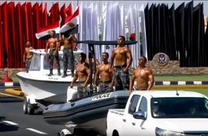 埃及警察部队汇报表演,有印度那味儿了