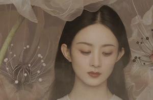 赵丽颖推出花间仙意大片,宛如花仙子,白色透视纱裙唯美意境