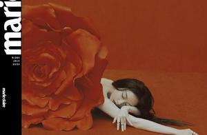 倪妮逆袭成杂志霸王花!裸背玫瑰造型美到极致,硬照堪比艺术品
