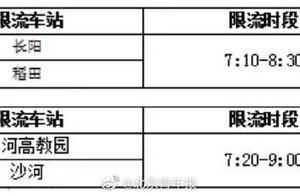 早高峰时段 北京8条地铁线路24座车站将限流