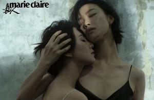 刘诗诗倪妮双生大片:两人穿上同款黑白色吊带裙,你有被磕到吗?