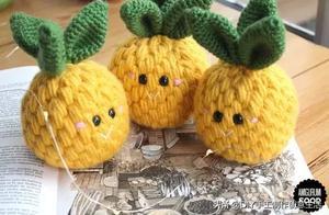 毛线钩针编织的食物更加软萌可爱,有编织教程