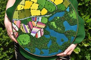 会刺绣不稀奇,英格兰3D景观刺绣带你了解异国风情