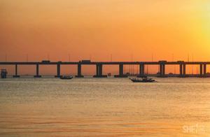 深圳西海岸的日落,美到没有边际