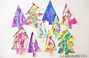 这些艺术圣诞树手工,成功俘虏了一群孩子爱上学习
