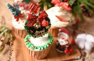 大叔家的圣诞食谱:麦芬蛋糕,松软可口,简单易做,家人爱吃