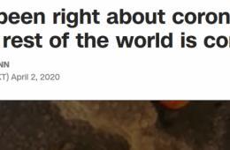 大型真香现场!CNN:亚洲各国戴口罩原来是对的